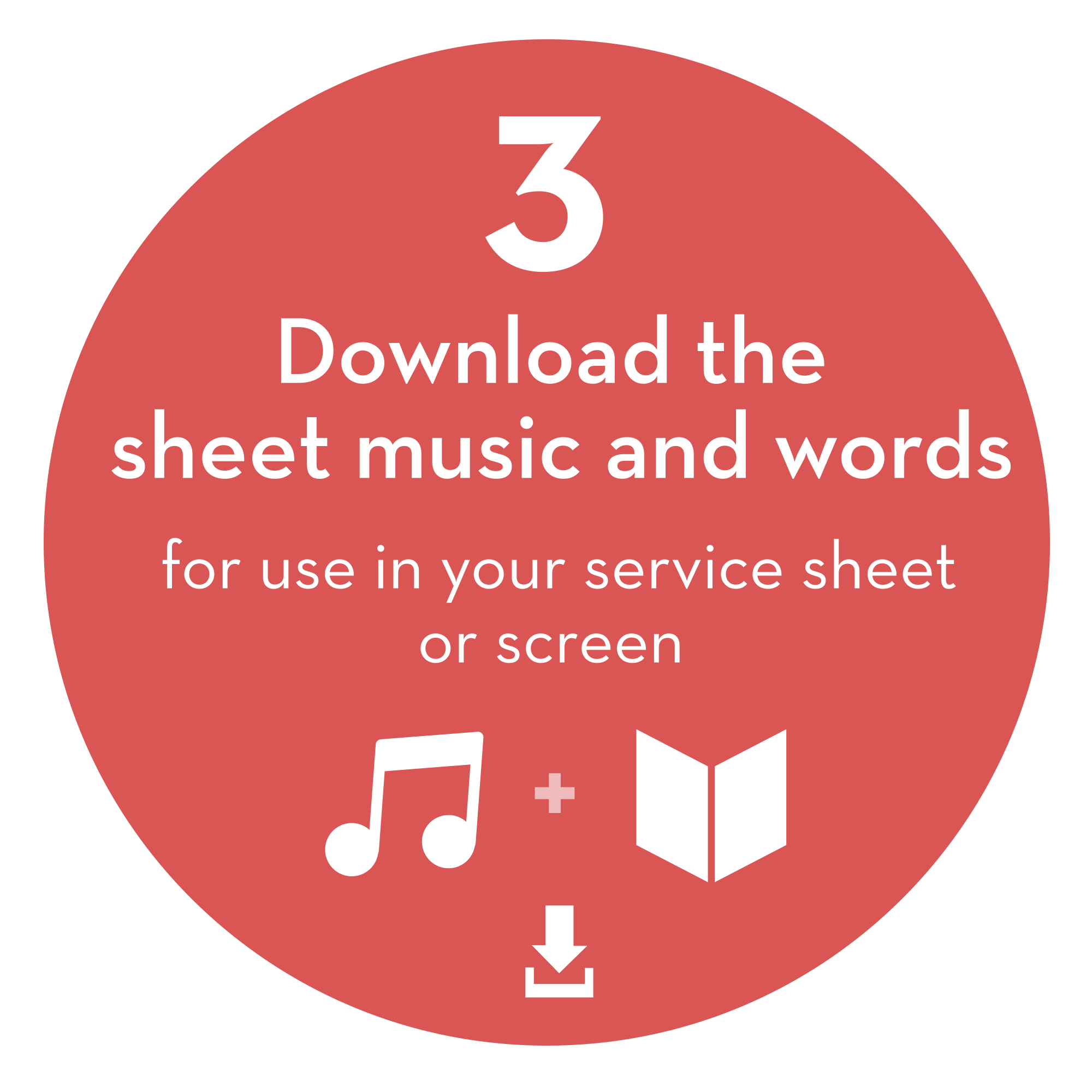 Step 3: Download the sheet music and words